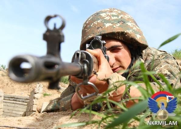 АО НКР: противник осуществил около 650 выстрелов