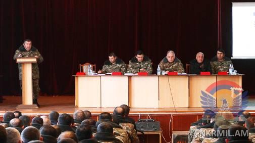 В Армии обороны Арцаха подвели итоги проделанной на переднем крае работы