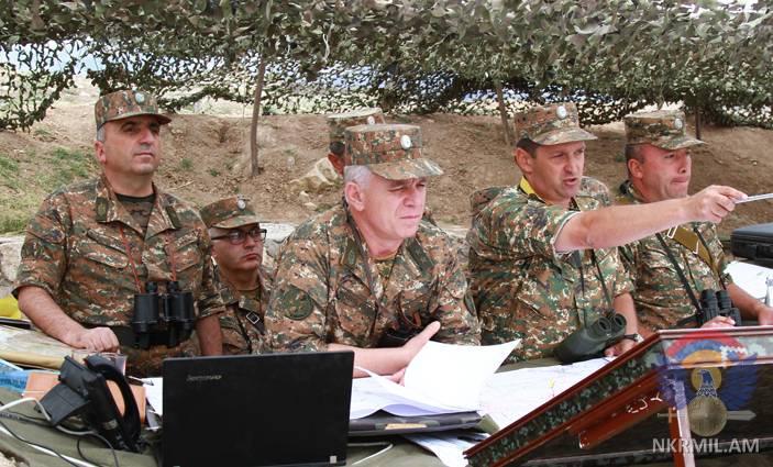 Минобороны Арцаха: Представители командного состава на местности выполнили задания