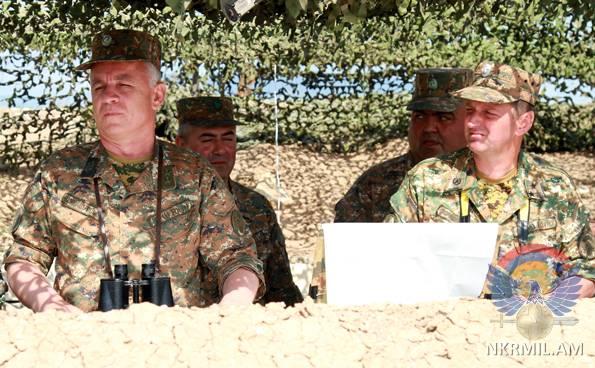 Минобороны Арцаха: Представители командного состава на местности выполнили тактические задания