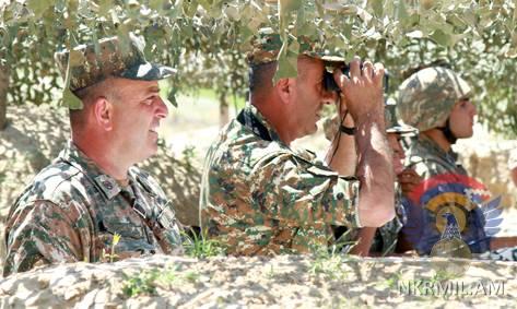 Тактические учения с боевой стрельбой проведены в Армии обороны Арцаха