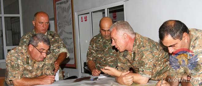 В Армии обороны НКР прошли штабные учения