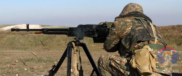 Минобороны НКР: Ночью ВС Азербайджана применили крупнокалиберные пулеметы