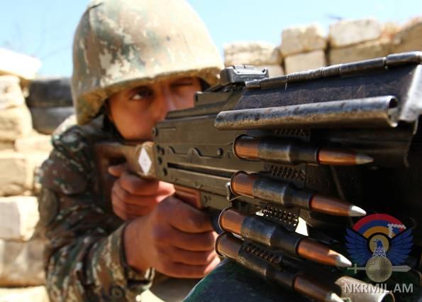 В выходные ВС Азербайджана нарушили режим прекращения огня около 55 раз – Минобороны НКР